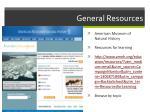 general resources13