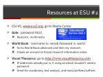 resources at esu 2