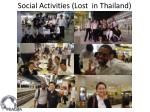 social activities lost in thailand