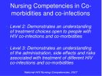 nursing competencies in co morbidities and co infections