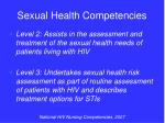 sexual health competencies