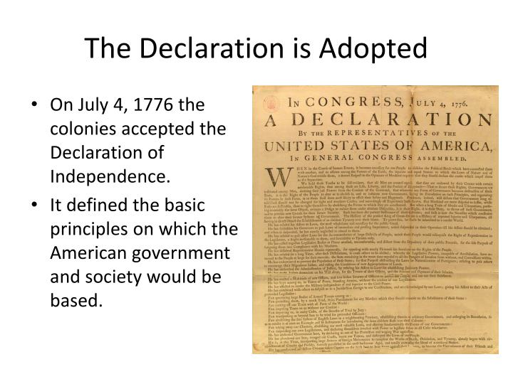 The Declaration is Adopted