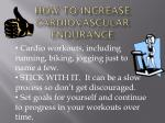 how to increase cardiovascular endurance