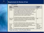 requirements for review of care1