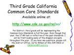 third grade california common core standards