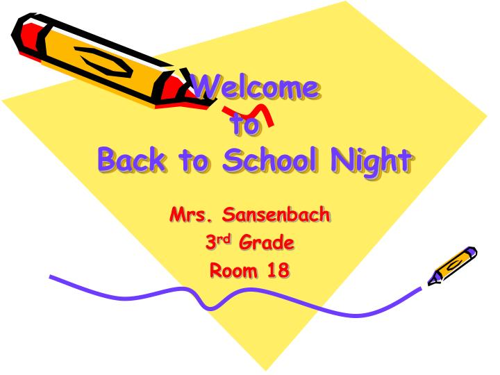 welcome to back to school night n.