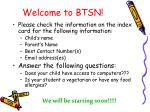 welcome to btsn