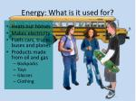 energy what is it used for