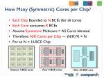 how many symmetric cores per chip