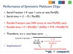 performance of symmetric multicore chips