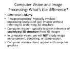 computer vision and image processing what s the difference