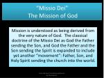 missio dei t he m ission of god