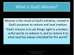 what is god s mission