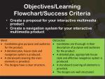 objectives learning flowchart success criteria
