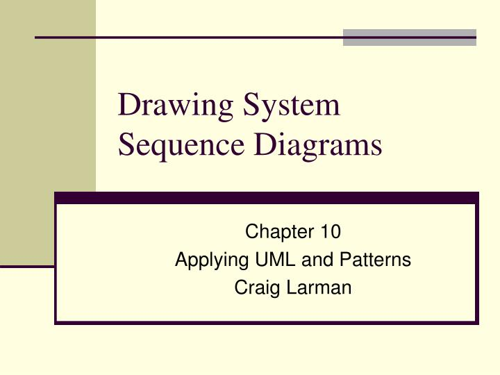 drawing system sequence diagrams n.