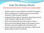 how the money works all criteria must be met in order to be compensated