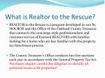what is realtor to the rescue