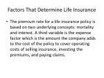 factors that determine life insurance