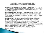 legislative definitions