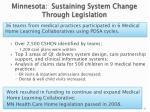 minnesota sustaining system change through legislation