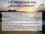 c o 2 absorption and oceanic currents