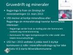 gruvedrift og mineraler