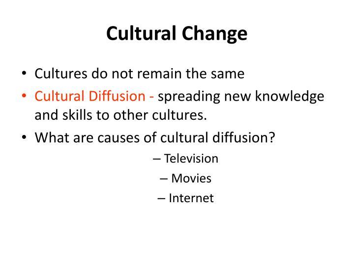 Cultural Change