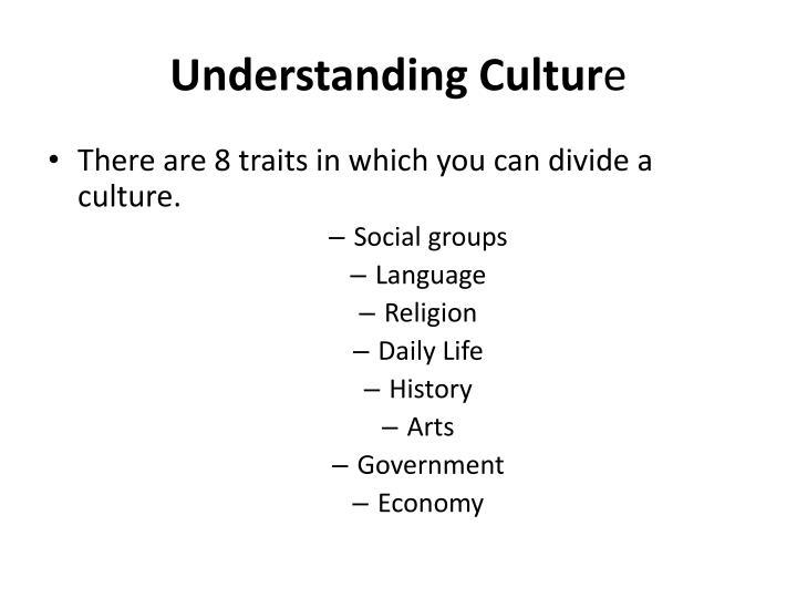 Understanding cultur e
