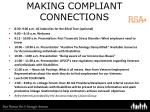 making compliant connections
