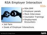 rsa employer interaction