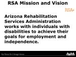 rsa mission and vision