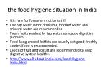 the food hygiene situation in india