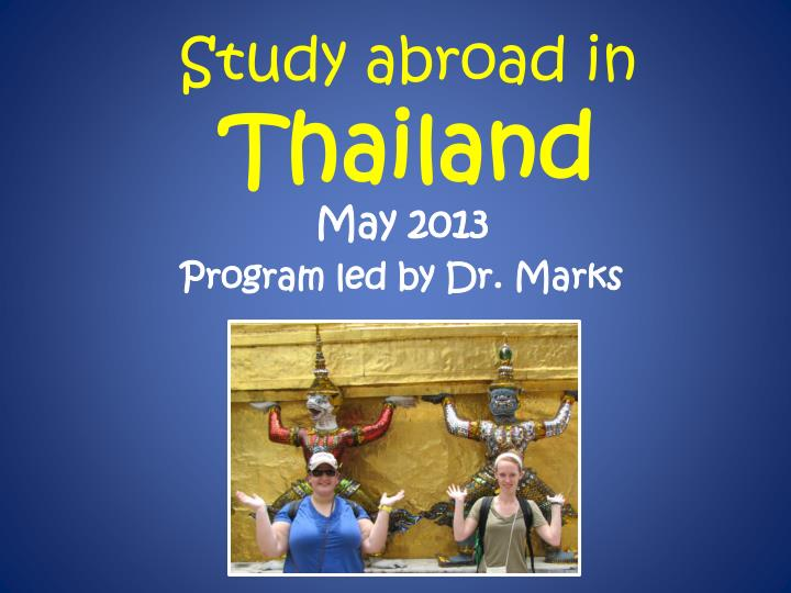 study abroad in thailand n.