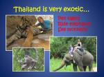 thailand is very exotic
