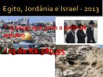 egito jord nia e israel 20131
