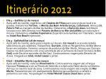 itiner rio 20121