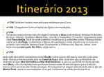 itiner rio 2013