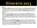 itiner rio 20132