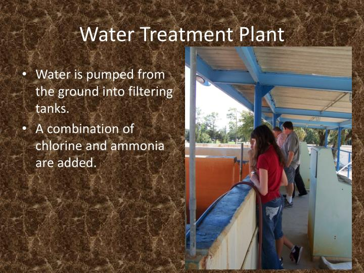 water treatment plant n.