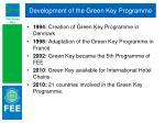 development of the green key programme