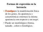 formas de expresi n en la herencia