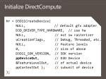 initialize directcompute
