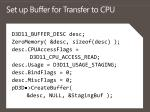 set up buffer for transfer to cpu