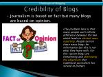 credibility of blogs