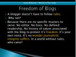 freedom of blogs