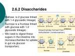 2 6 2 disaccharides