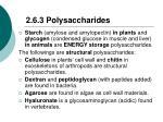 2 6 3 polysaccharides