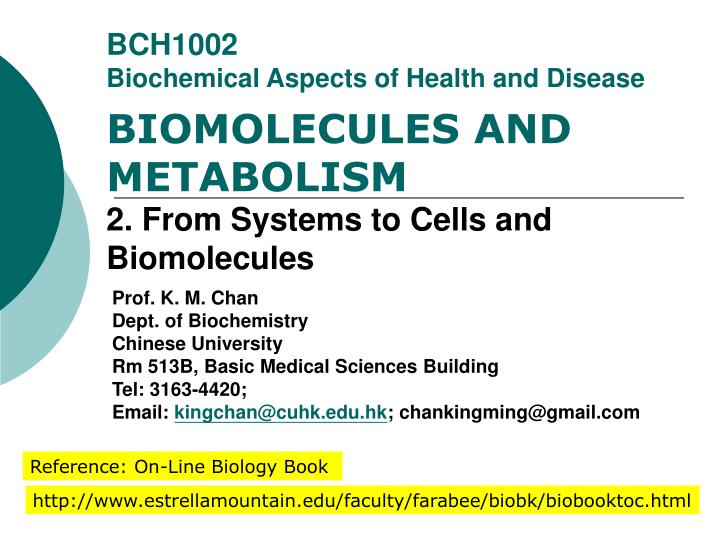 bch1002 biochemical aspects of health and disease n.