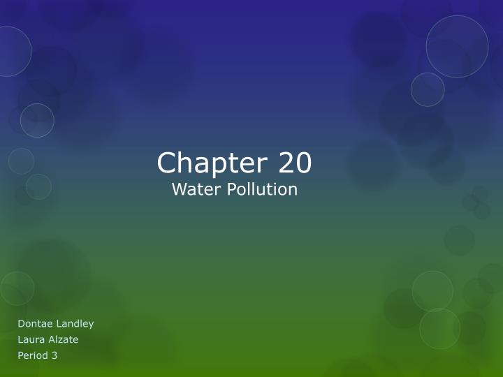 chapter 20 water pollution n.
