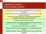 logistyka produkcji istota metody kanban